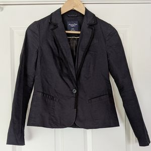 American Eagle Outfitters black cotton blazer XS